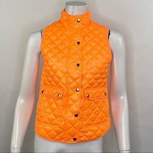 J Crew Shiny Quilted Down Field Puffer Vest PXS